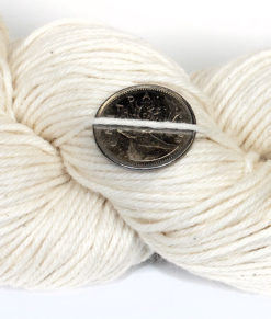 Bare Yarn - Fingering - Superwash Merino, Coton, Acrylic, white NEP