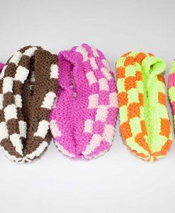 Pantoufles en phentex pour femmes - fait main par Artigina