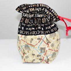 Sac à tricot de type baluchon réversible - Paris - Artigina