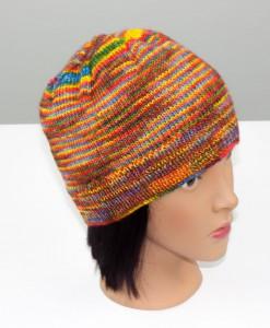 Tuque en laine Chromatitude (coté) | Fait main Artigina