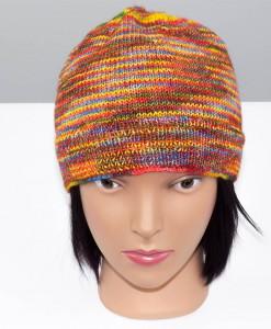 Tuque en laine Chromatitude (devant) | Fait main Artigina