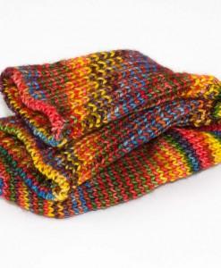 Bas de laine pour enfant Chromatitude (plié) | Fait main Artigina