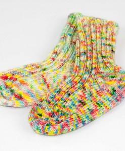 Bas de laine pour enfants Confetti | Fait main Artigina