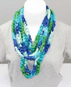 Collier tricoté twist | Fait main Artigina