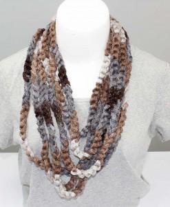 Collier tricoté valse | Fait main Artigina