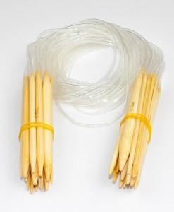 Ensemble d'aiguilles circulaires en bambou