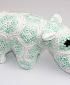Hippopotame (happypotamus) vert | Fait main Artigina