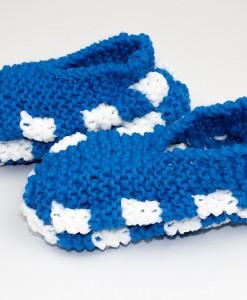 Pantoufles en Phentex pour enfant bleu (paire) | Fait main Artigina
