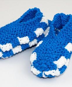 Pantoufles en Phentex pour enfant bleu | Fait main Artigina