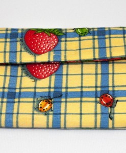 Porte-monnaie pour femme fraise | Fait main Artigina