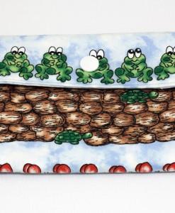 Porte-monnaie pour femme grenouille et épis de maïs | Fait main Artigina