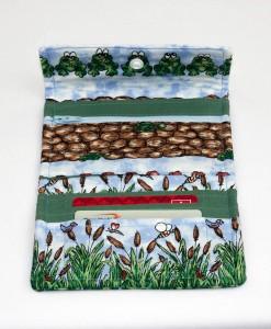 Porte-monnaie pour femme grenouille et épis de maïs (intérieur) | Fait main Artigina