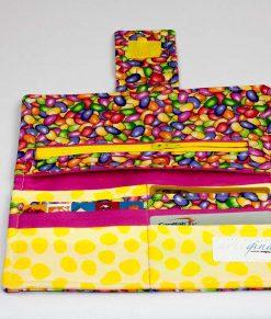 Portefeuille pour femme bonbons (intérieur) | Fait main Artigina