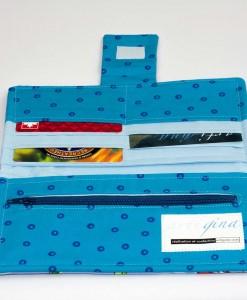 Portefeuille pour femme libellules (intérieur) | Fait main Artigina