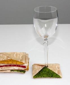 Sous-verre identificateur boules de Noël (coupe à vin) | Fait main Artigina