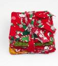 Sous-verre identificateur souris de Noël rouge | Fait main Artigina