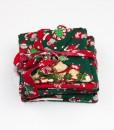 Sous-verre identificateur souris de Noël vert   Fait main Artigina