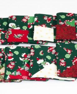 Sous-verre identificateur souris de Noël vert (ensemble) | Fait main Artigina