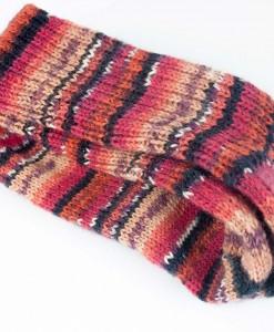 Bas de laine pour femme - rouge, noir et violet (paire)