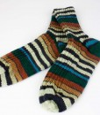 Bas de laine pour hommes, vert, bleu, brun et crème (paire)