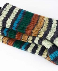 Bas de laine pour hommes, vert, bleu, brun et crème
