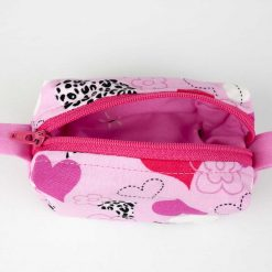 Pochette Box - Coeurs roses (ouvert)