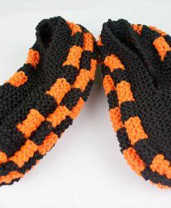 Pantoufles en Phentex pour hommes (orange et noir) - Type Harley-Davidson