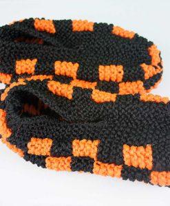 Pantoufles en Phentex pour hommes (orange et noir) - Type Harley-Davidson - Artigina