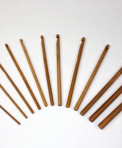 Ensemble de 12 crochets en bambou