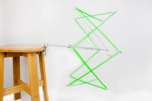 Parapluie de plastique et métal (dévidoir - écheveaudoir) - Ajustable