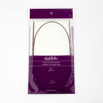 Aiguille circulaire Rainbow Wood Knit Picks - 80cm - 2,5mm