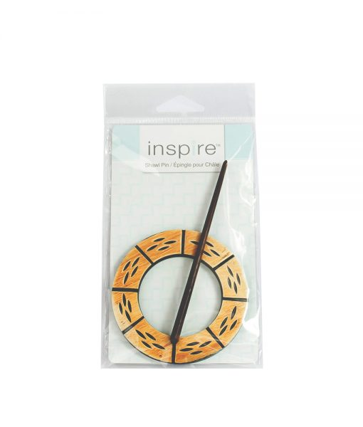 Épinge en bois pour châle (ronde) INSPIRE