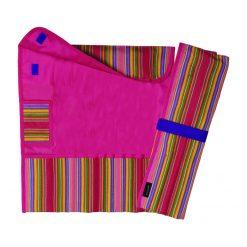 Étui à aiguilles à tricoter droite de CLOVER - ouverte