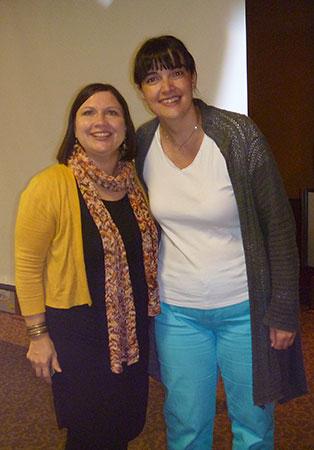 Gina (Artigina) en compagnie d'Annie Jeanson au festival de la p'tite laine de Rivière-du-Loup
