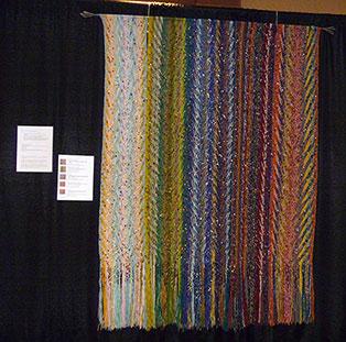 Une oeuvre de Catherine Lessard au festival de la p'tite laine de Rivière-du-Loup