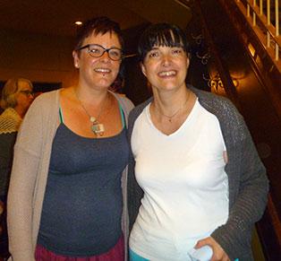 Gina (Artigina) en compagnie de Julie Desjardins au festival de la p'tite laine de Rivière-du-Loup