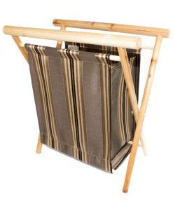 Panier à tricot brun ligné - Artigina
