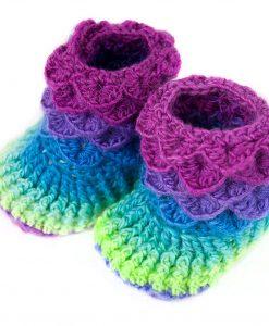 Pantoufles en laine et nylon pour bébé - Pegase