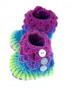 Pantoufles en laine et nylon pour bébé - Pegase (côté)