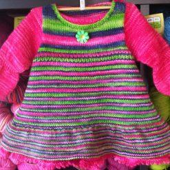 Patron de tricot Annabelle - Robe de bébé - À la maille suivante (02)