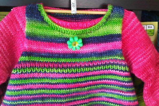 Patron de tricot Annabelle - Robe de bébé - À la maille suivante (04)