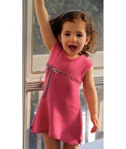 Patron de tricot Barbapapa - Robe pour fillette - À la maille suivante (02)