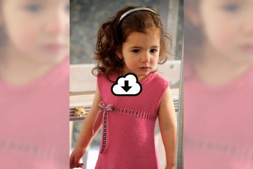 Patron de tricot Barbapapa - Robe pour fillette - À la maille suivante