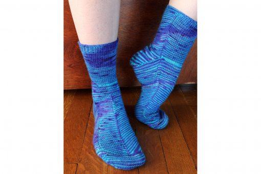 Patron de tricot - Bas Celestial socks - À la maille suivante (04)
