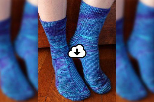 Patron de tricot - Bas Celestial socks - À la maille suivante