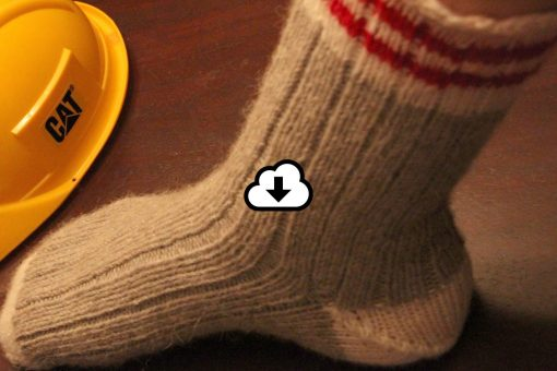 Patron de tricot - Bas Gab work socks - À la maille suivante