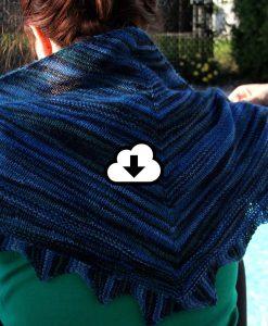 Patron de tricot - Châle Courants marin - À la maille suivante