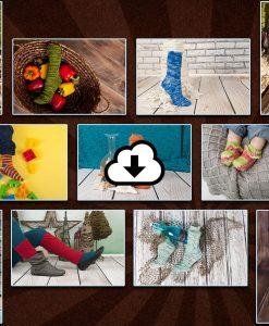Patron de tricot Collection de chaussettes 2015 - 12 patrons de bas - À la maille suivante