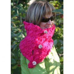 Patron de tricot - Foulard Pinky cowl - À la maille suivante (04)