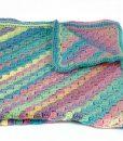 Couverture de bébé en acrylique multicolore - Fait main Artigina